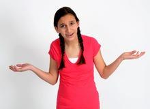 Gefrustreerd jong meisje Stock Afbeelding