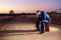 Gefrustreerde zakenman in het binnenland Stock Fotografie
