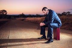 Gefrustreerde zakenman in het binnenland Royalty-vrije Stock Foto's