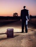 Gefrustreerde zakenman in het binnenland Royalty-vrije Stock Afbeelding