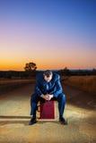 Gefrustreerde zakenman in het binnenland Stock Foto's