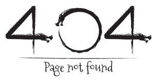 Gefundene Drachen der Seite des Fehlers 404 nicht Stockbild