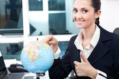 Gefundener Platz der Geschäftsfrauen für neuen Job Stockfotografie