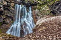 Gega瀑布,阿布哈兹 库存图片