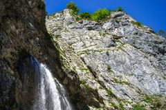 The Gega waterfall. The most famous and largest waterfall in Abkhazia. Georgia royalty free stock photography