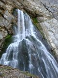 The Gega waterfall in the mountains of Abkhazia royalty free stock image