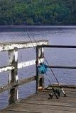 Gegaan fishin stock afbeelding