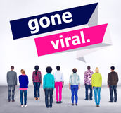 Gegaan Vial Popular Social Media Networking-Concept Stock Fotografie