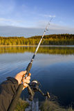 Gegaane visserij Stock Afbeelding
