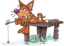 Gegaane visserij stock illustratie