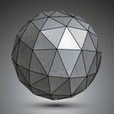 Gegalvaniseerd dimensionaal gebied, metaal 3d voorwerp stock illustratie