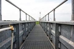 Gegalvaniseerde brug Stock Foto's