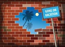 Gegangen auf Ferien Lizenzfreies Stockfoto