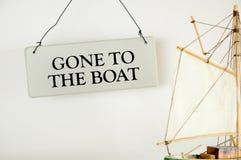 Gegangen zum Boot Stockfotografie