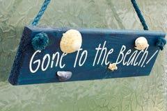 Gegangen zum Strand Stockbild