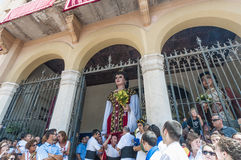 Gegant de la Vila at Festa Major in Sitges, Spain Royalty Free Stock Photo
