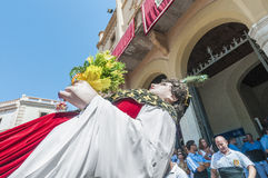 Gegant de la Vila at Festa Major in Sitges, Spain Royalty Free Stock Image