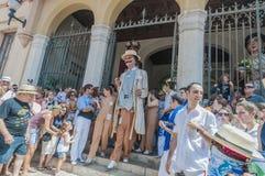 Gegants Americanos à commandant de Festa dans Sitges, Espagne Photo libre de droits