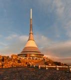 Gegekscheerde toren in Tsjechische Republiek Stock Afbeeldingen