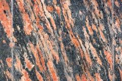 Gegenüberstellen der Wand der gelockten Stücke Marmors Keller des Gebäudes Lizenzfreies Stockfoto