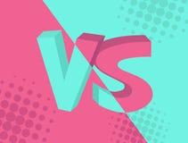 GEGEN gegen Aufschrift auf Türkis und rosa Hintergrund, komisches Design Auch im corel abgehobenen Betrag lizenzfreie abbildung