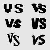Gegen Buchstabeikonensatz Sammlung GEGEN Logo stock abbildung