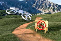 Gegen den Drohnen-Krieg bekämpfen Stockfotos