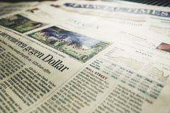 Gegen Dollar Newspaper Article Royalty Free Stock Image