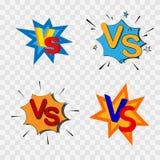 Gegen oder gegen Konfrontation stock abbildung
