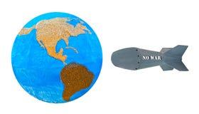 Gegen Rakete kein Krieg Lizenzfreie Stockbilder