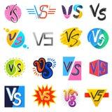 GEGEN Vektor gegen Beschriftungssymbol V s im Explosionskampf oder komischer Artguß im Typografieillustrationssatz von gegen vektor abbildung