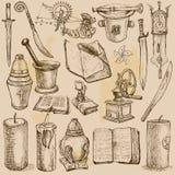 Gegenstände - Vektorillustrationen Stockfoto