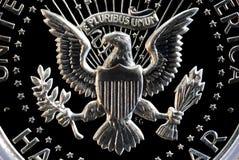 Gegenstücck des US-silbernen halben Dollars Lizenzfreies Stockbild