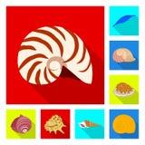 Gegenstand des Tier- und Dekorationssymbols Sammlung des Tier- und Ozeanaktiensymbols f?r Netz lizenzfreie abbildung