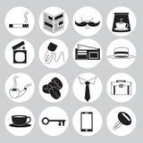 Gegenstandikonen-Designsatz Stockfoto