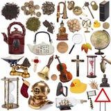 Gegenstände für herausgeschnitten - lokalisiert Stockbilder