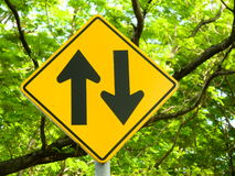 Gegenverkehrzeichen Lizenzfreies Stockbild