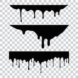 Gegenwärtige Farbe, Flecke Gegenwärtige Tropfen Gegenwärtige Tinten lizenzfreie abbildung
