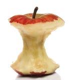 Gegeten rode appel Stock Afbeelding