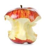 Gegeten rode appel stock foto's