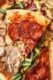 Gegeten stuk van pizza royalty-vrije stock foto