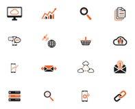 Gegevens analitische eenvoudig pictogrammen Stock Foto's