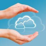 Gegevens in de veilige wolk Stock Foto