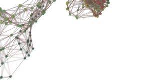 Gegevens die over een netwerk reizen vector illustratie