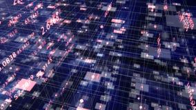Gegevens en Aantallen - Gegevens en aantalwaarden die door cyberspace overgaan vector illustratie
