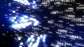 Gegevens en Aantallen - Gegevens en aantalwaarden die door cyberspace overgaan royalty-vrije illustratie