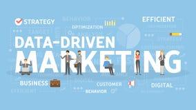 Gegevens gedreven marketing royalty-vrije illustratie