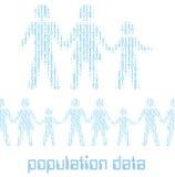 Gegevens van de de statistiekenbevolking van de mensenfamilie de digitale vector illustratie