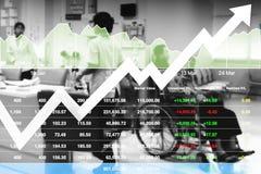 Gegevens van het voorraad de financiële onderzoek voor gezondheidszorg en het ziekenhuis royalty-vrije stock foto's