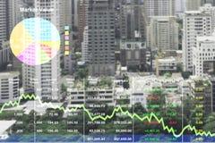 Gegevens van het voorraad de financiële onderzoek voor onroerende goedereninvestering royalty-vrije stock foto